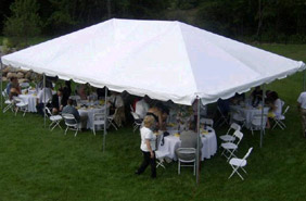 20x30 Frame tent for a wedding reception