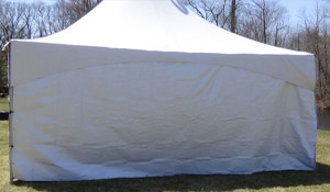 Tent with solid sides