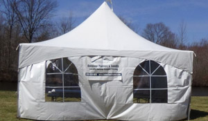 Tent with window sides